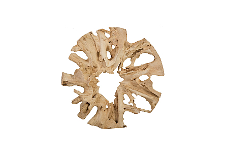 Teak Root Sculpture Round, Size Varies