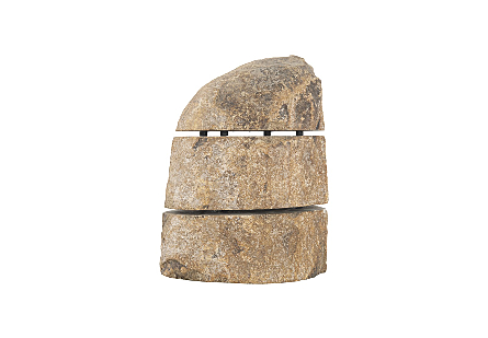 Sliced Stone Sculpture Andesite, Assorted