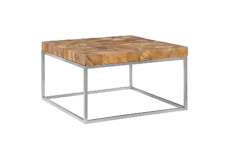 Teak Puzzle Coffee Table