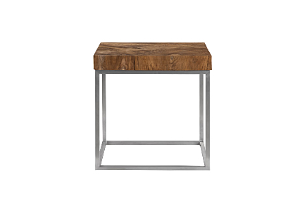 Teak Puzzle Side Table