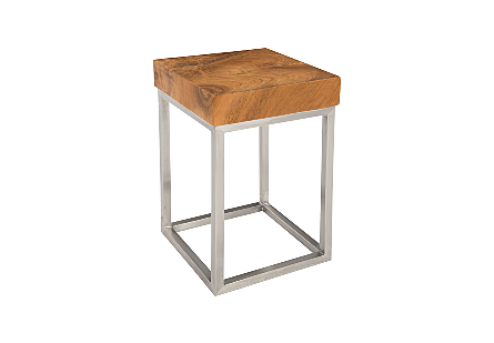 Teak Puzzle Side Table  SM
