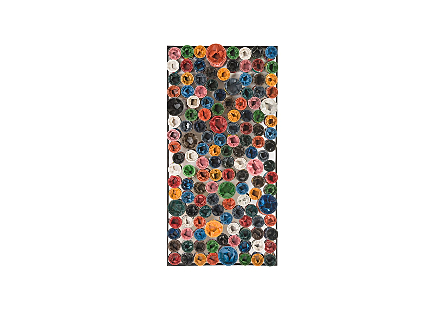Paint Can Wall Art Rectangle, Assorted Colors