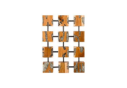 Exploded Glitz Cube Wall Art