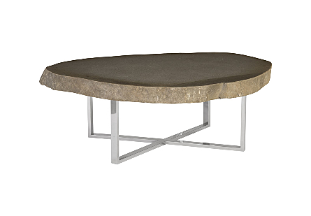 Stone Slab Coffee Table