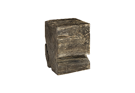 Black Wash Stool Square