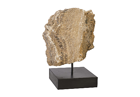 Onyx Sculpture on Stand, Assorted 8x8x16-21h""