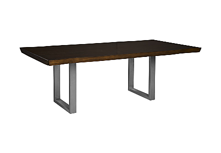 Live Edge Dining Table, Suar Wood Ebony