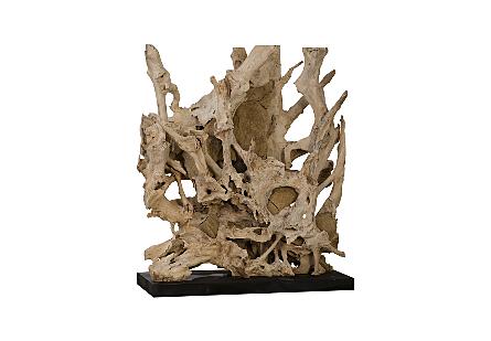 Teak Sculpture Stone