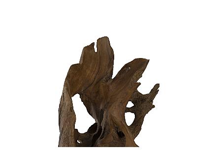 Teak Root Sculpture Round