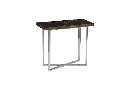 Petrified Wood Console Table MD