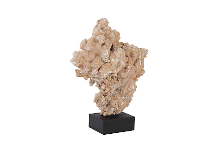 Stalagmite Sculpture on Wood Stand