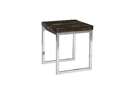 Petrified Wood Side Table Laminated