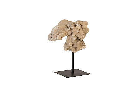 Stalagmite Sculpture on Iron Stand Assorted