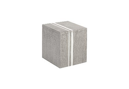Maya Block Side Table Stainless Steel Detail