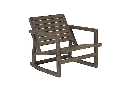 Slated Rocking Chair Charcoal