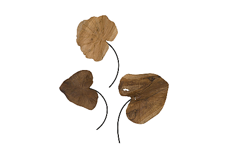 Carved Leaf Wall Art Set Of 3