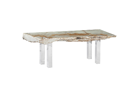 Onyx Coffee Table Stainless Steel Legs