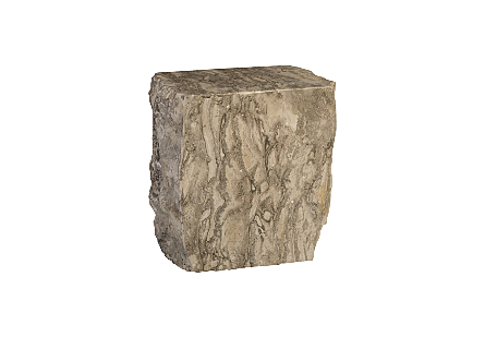 Marble Stool Grey