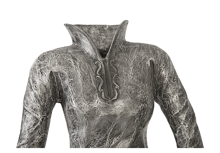 Dress Sculpture, Long Sleeves Black/Silver, Aluminum