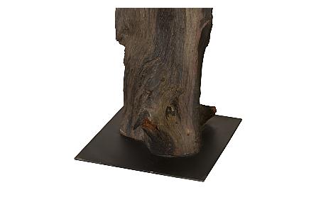 Black Root Sculpture Metal Stand