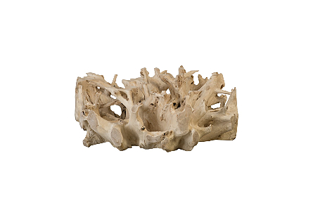 Teak Wood Coffee Table Bleached, Round