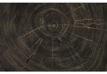 Chuleta Coffee Table with Tapered Wood Legs Suar Wood, Grey Stone
