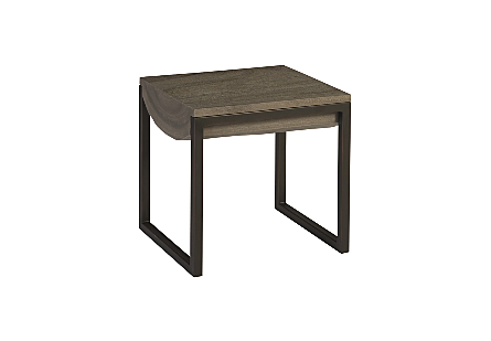 Suar Wood Side Table Grey, SM