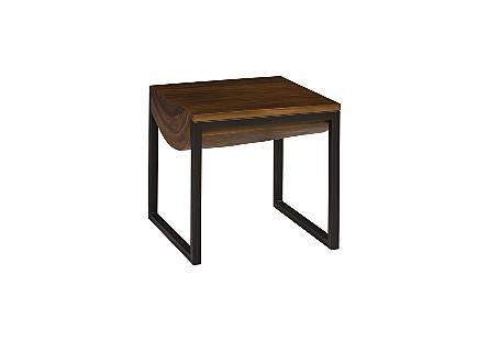 Suar Wood Sdie Table Natural, LG