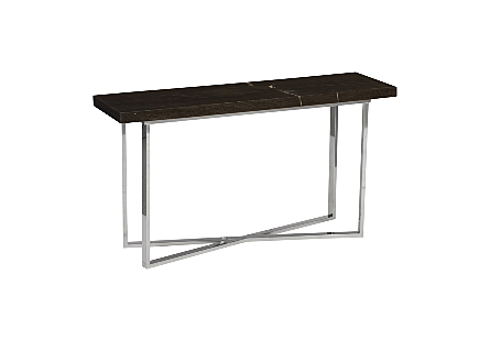 Petrified Wood Console Table LG