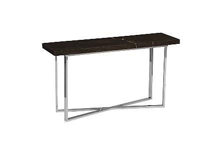 Petrified Wood Console Table LG