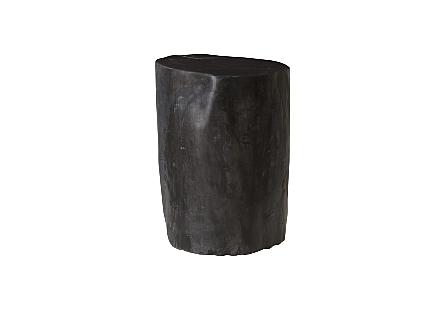 """Petrified Wood Stool, Polished , Black 8""""-10"""" x 17""""-19""""h  Assorted"""
