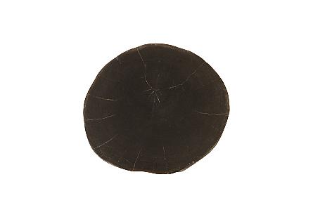 """Petrified Wood Stool, Polished, Black , 12""""-14"""" x 17""""-19""""h Assorted"""