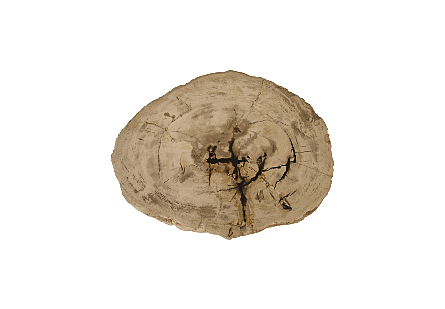 "Petrified Wood Stool, Rough, Cream 10""-14"" x 17""-19""h Assorted"