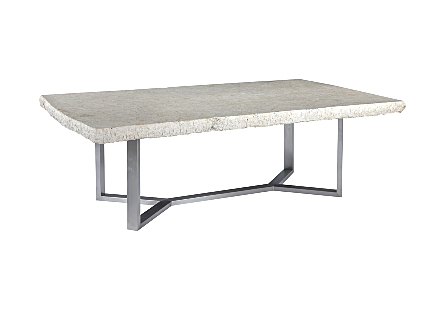 Marble Dining Table Stainless Steel Base