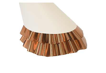 Ruffle Pendant Lamp White/Copper