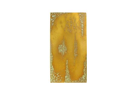 Abstract Copper Patina Wall Art SM