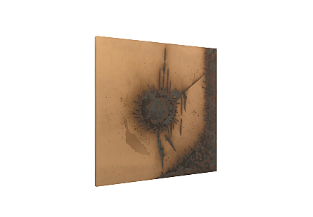 Abstract Copper Patina Wall Art Circle