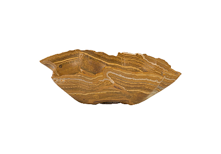 Brown Onyx Bowl Brown