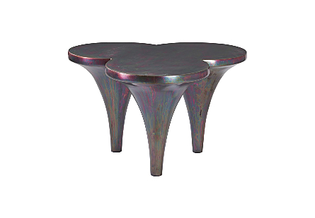 Marley Coffee Table Resin, Copper Finish