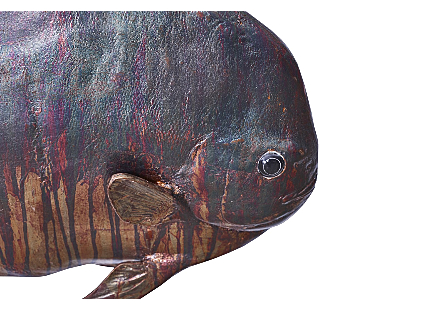 Australian Bat Fish Wall Sculpture Resin, Copper Patina Finish