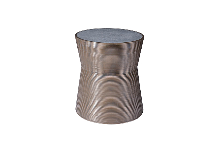 Kono Side Table Resin, Bronze Finish, Concrete Composite Top