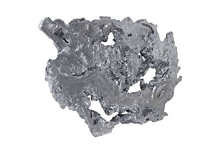 Burled Root Wall Art Liquid Silver, LG