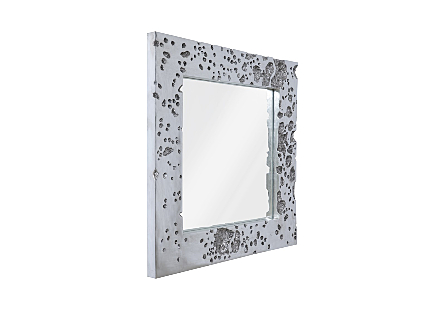 Splotch Mirror Silver Leaf