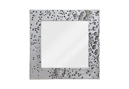 Splotch Mirror Silver Leaf