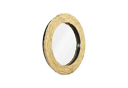 Molten Mirror Round, Gold Leaf