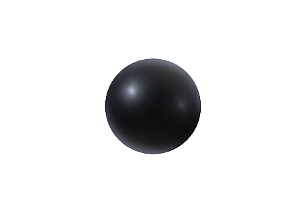 Ball on the Wall Small, Matte Black