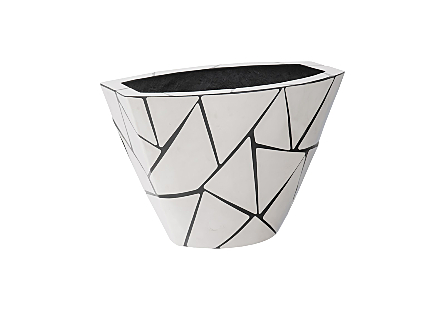 Triangle Crazy Cut Planter Small, Stainless Steel