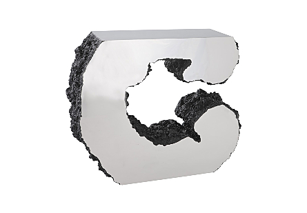 Lava Console Table Stainless Steel