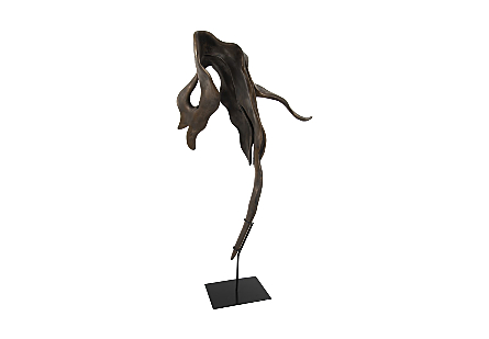 Cast Root Sculpture Resin, Bronze Finish