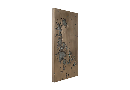 Splotch Wall Art, Rectangle, Bronze Finish